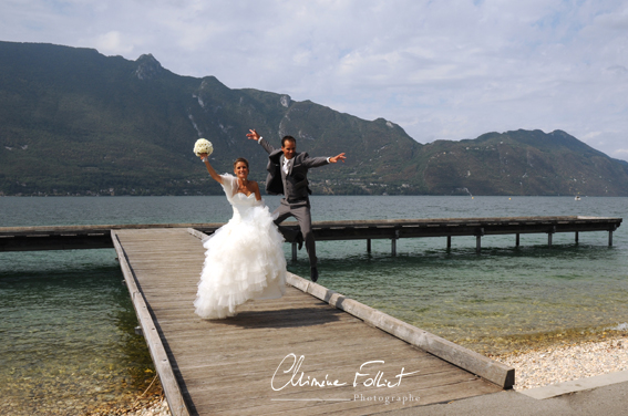 Photo mariage Tresserve ponton